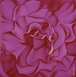 <h5>Pink petals</h5><p><strong>Sold</strong> <span><cite>Size</cite>57cm x 57cm </span> <span><cite>Medium</cite> Ink</span></p>