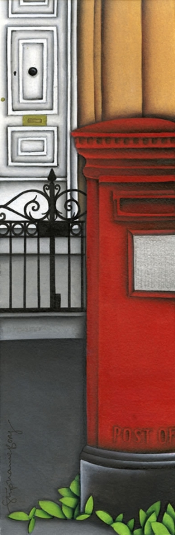 <h5>The Red Pillar Box</h5><p><strong>Sold</strong> <span><cite>Size</cite>30cm x 10cm </span> <span><cite>Medium</cite> Ink</span></p>