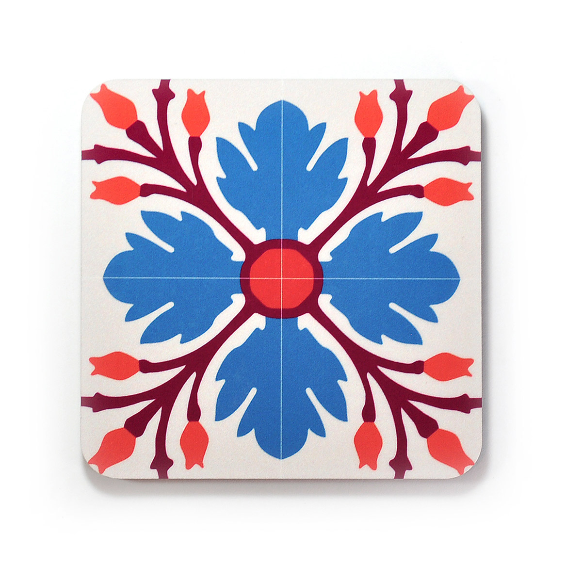 Set of 4 Malta Tile Coasters, pattern no.9