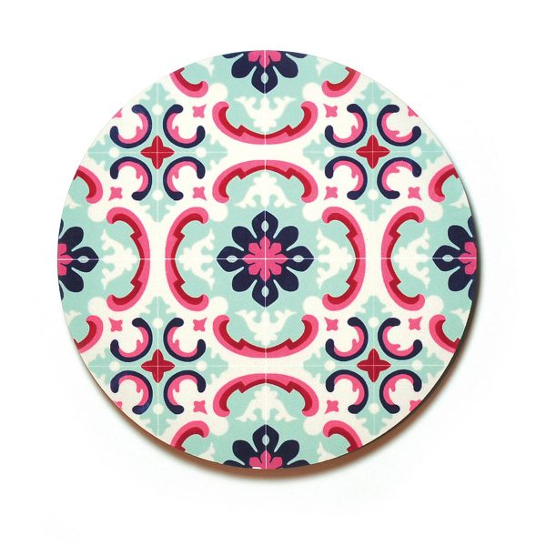 Coaster-Floral-Fancy-Pastels-no1
