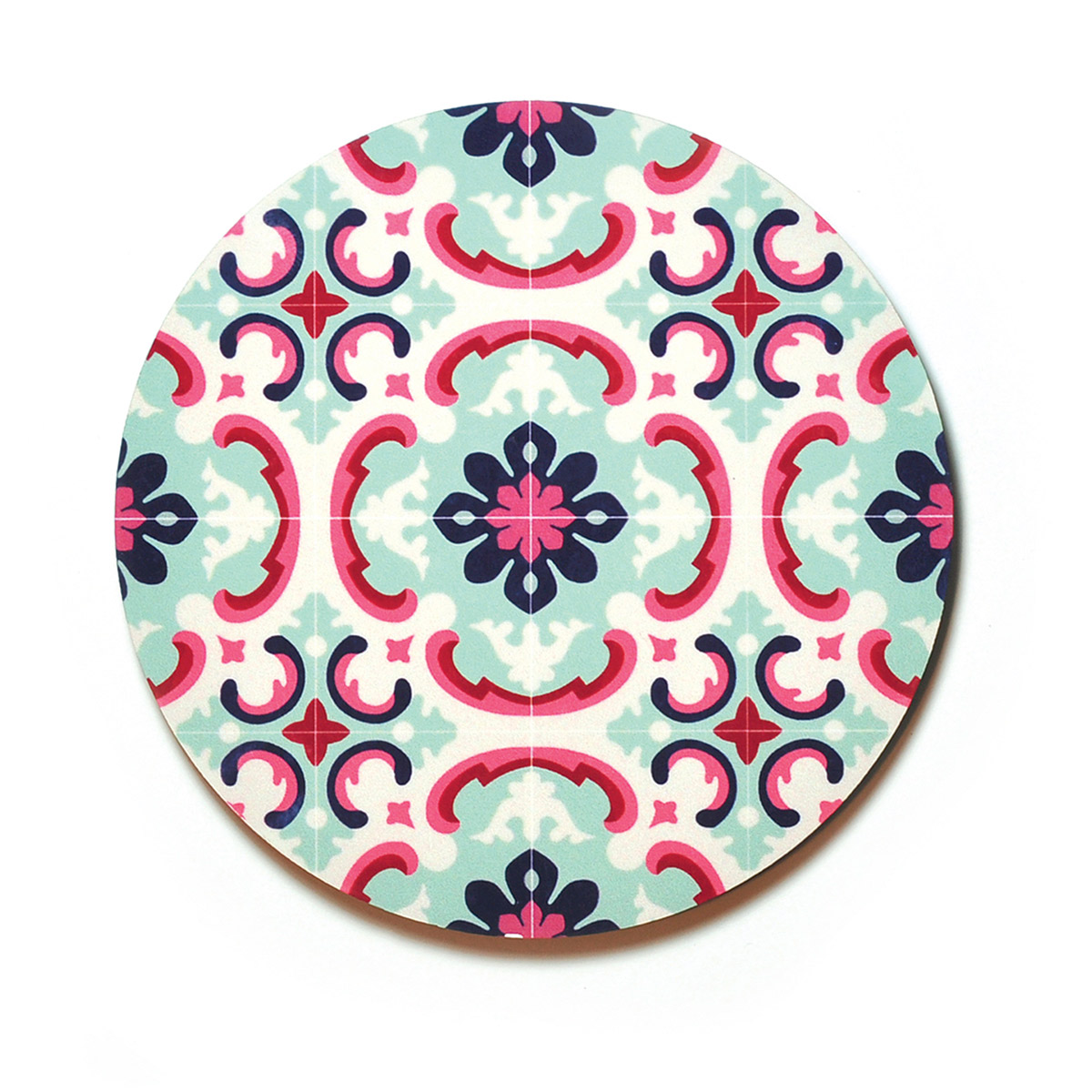 Set of 4 Malta Tile Coasters, pattern no.1