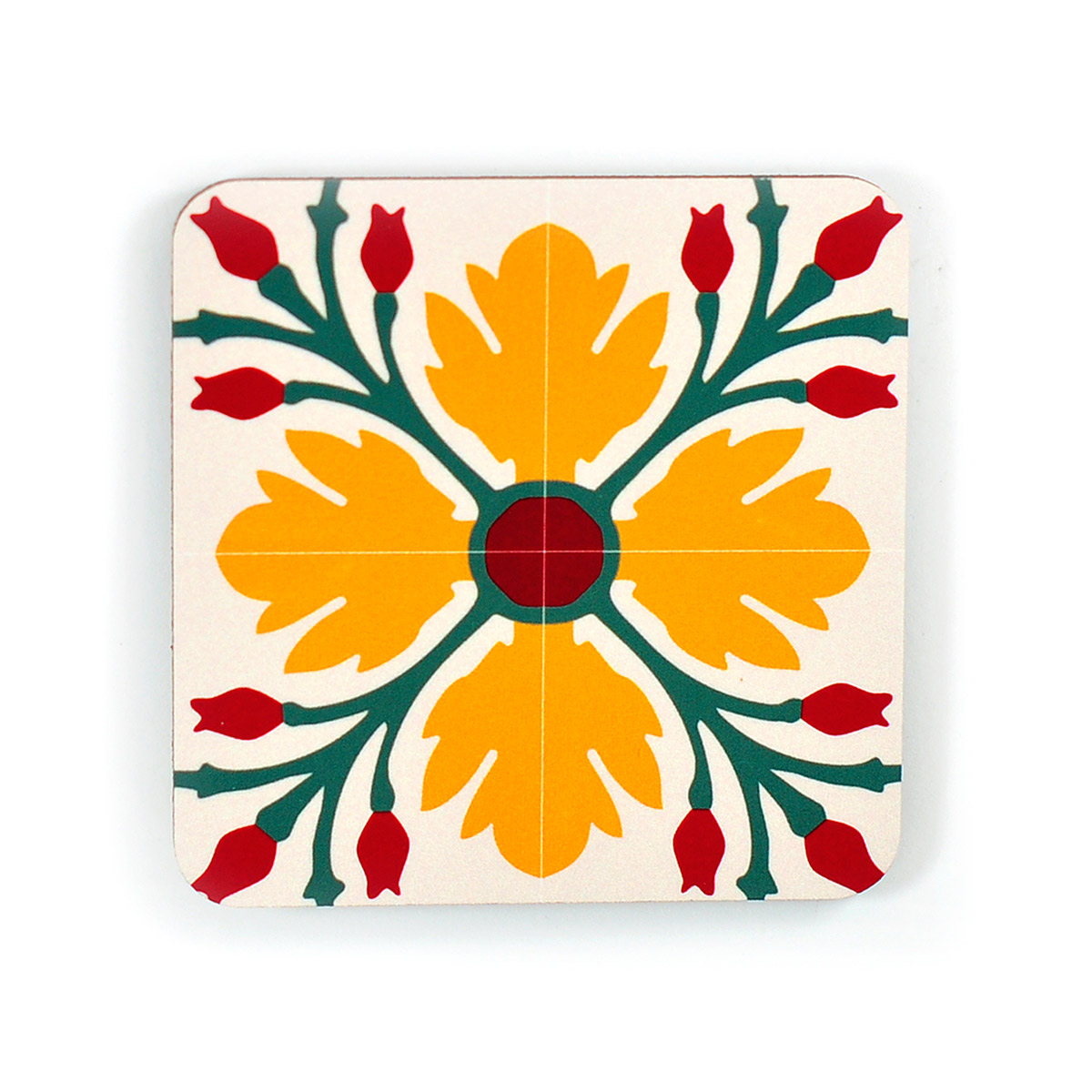 Set of 4 Malta Tile Coasters, pattern no.10