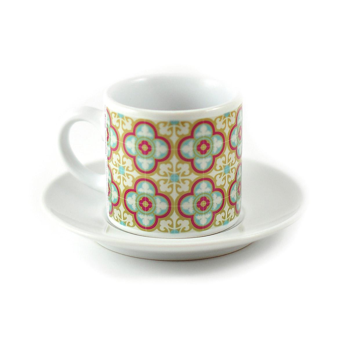Malta Tile Espresso Cup & Saucer, pattern no.12