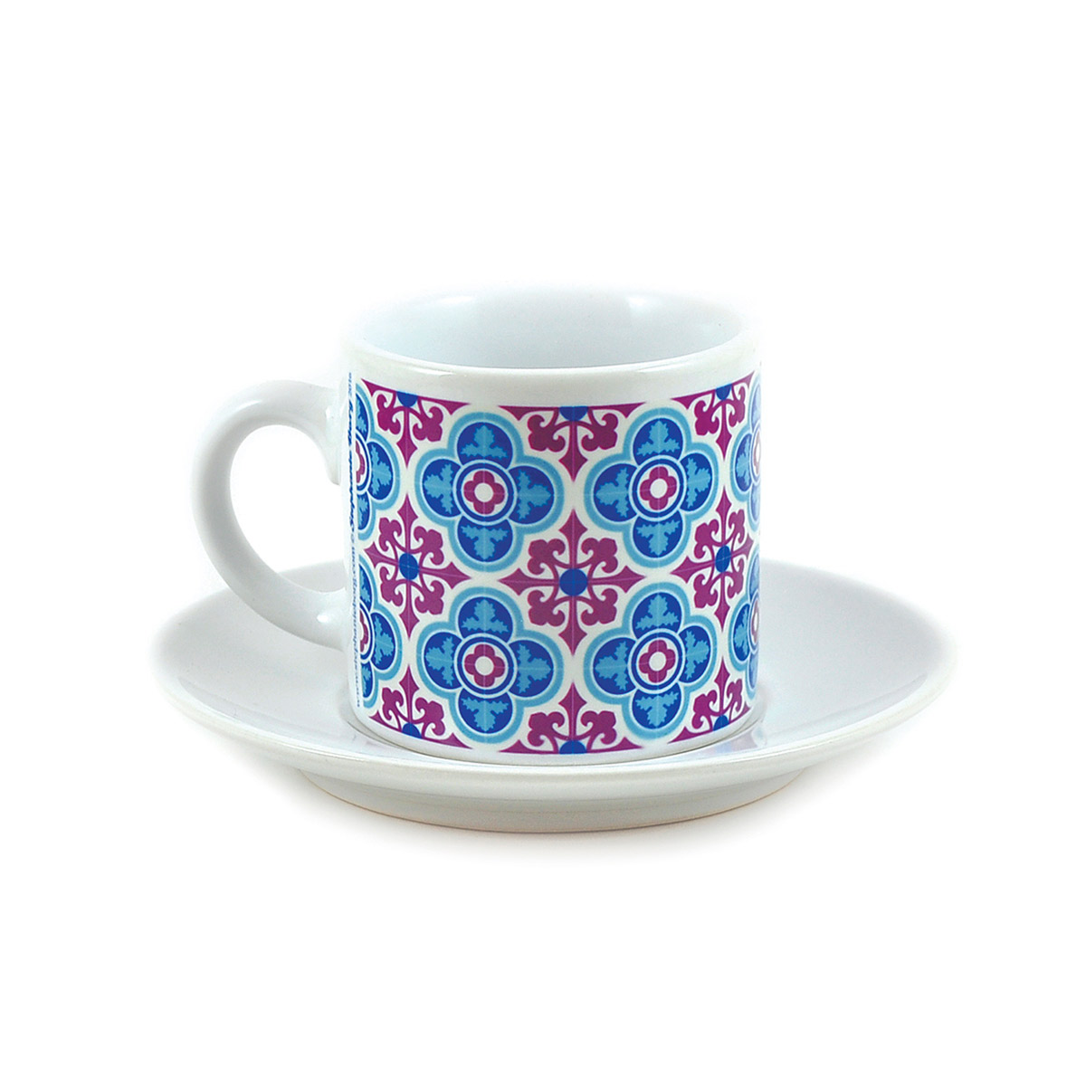 Malta Tile Espresso Cup & Saucer, pattern no.3