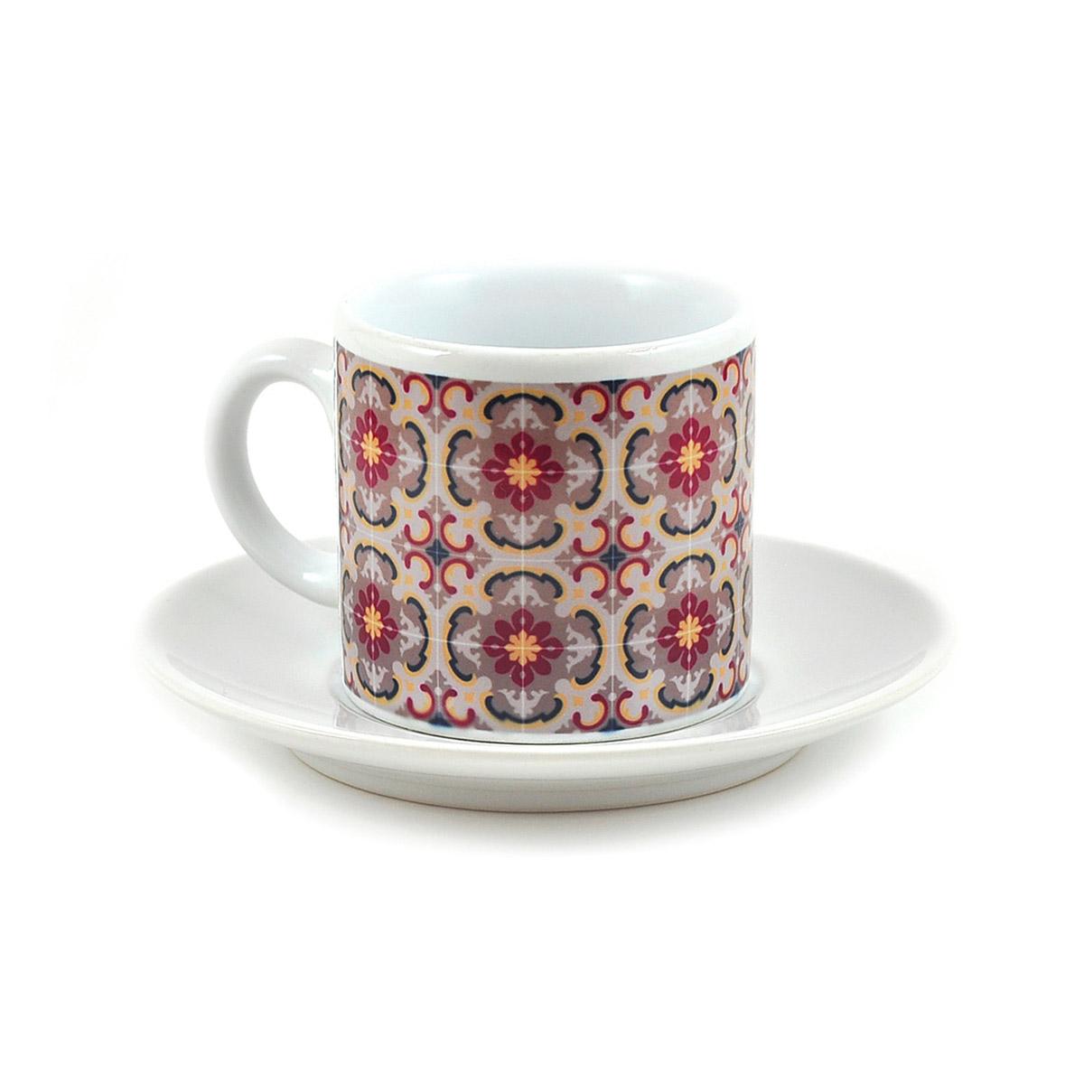 Malta Tile Espresso Cup & Saucer, pattern no.11