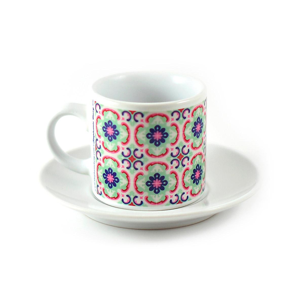 Malta Tile Espresso Cup & Saucer, pattern no.1