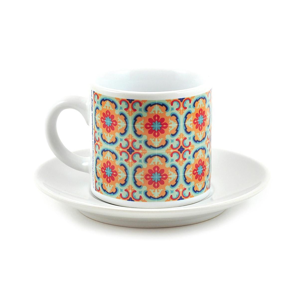 Malta Tile Espresso Cup & Saucer, pattern no.2