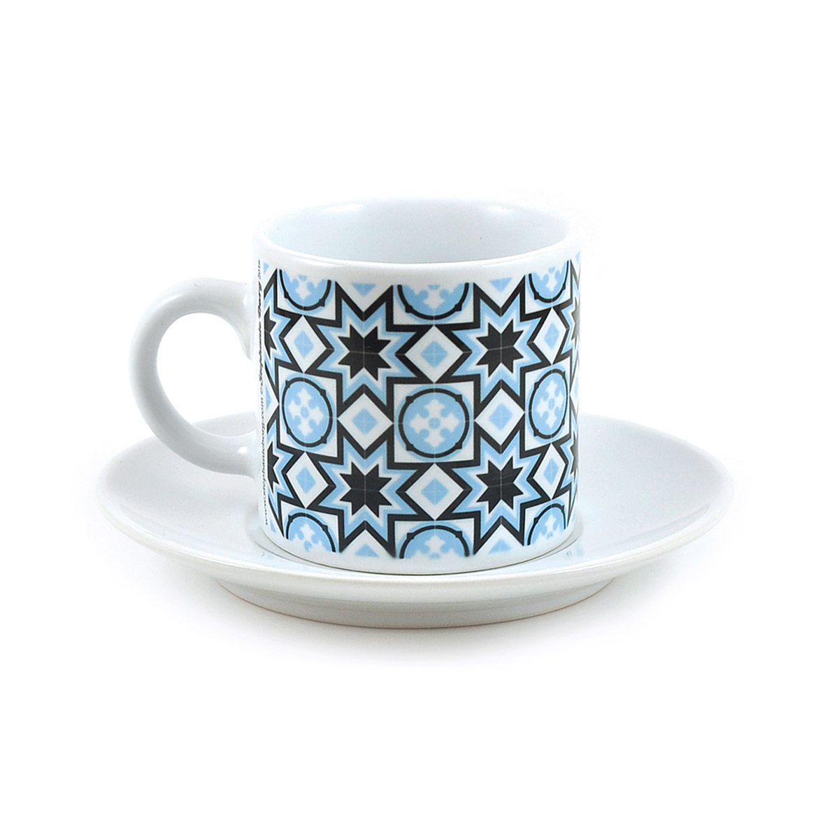 Malta Tile Espresso Cup & Saucer, pattern no.7