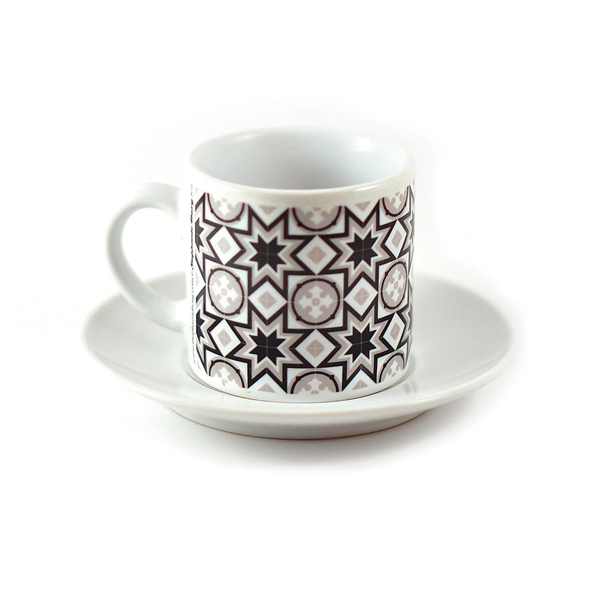 Malta Tile Espresso Cup & Saucer, pattern no.8