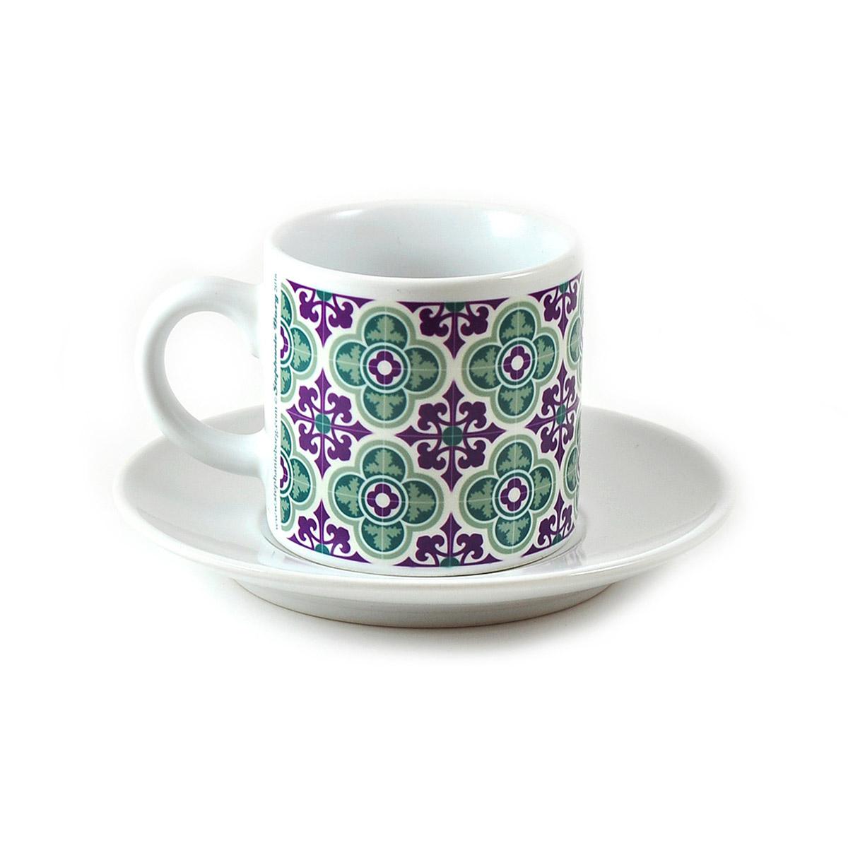 Malta Tile Espresso Cup & Saucer, pattern no.6