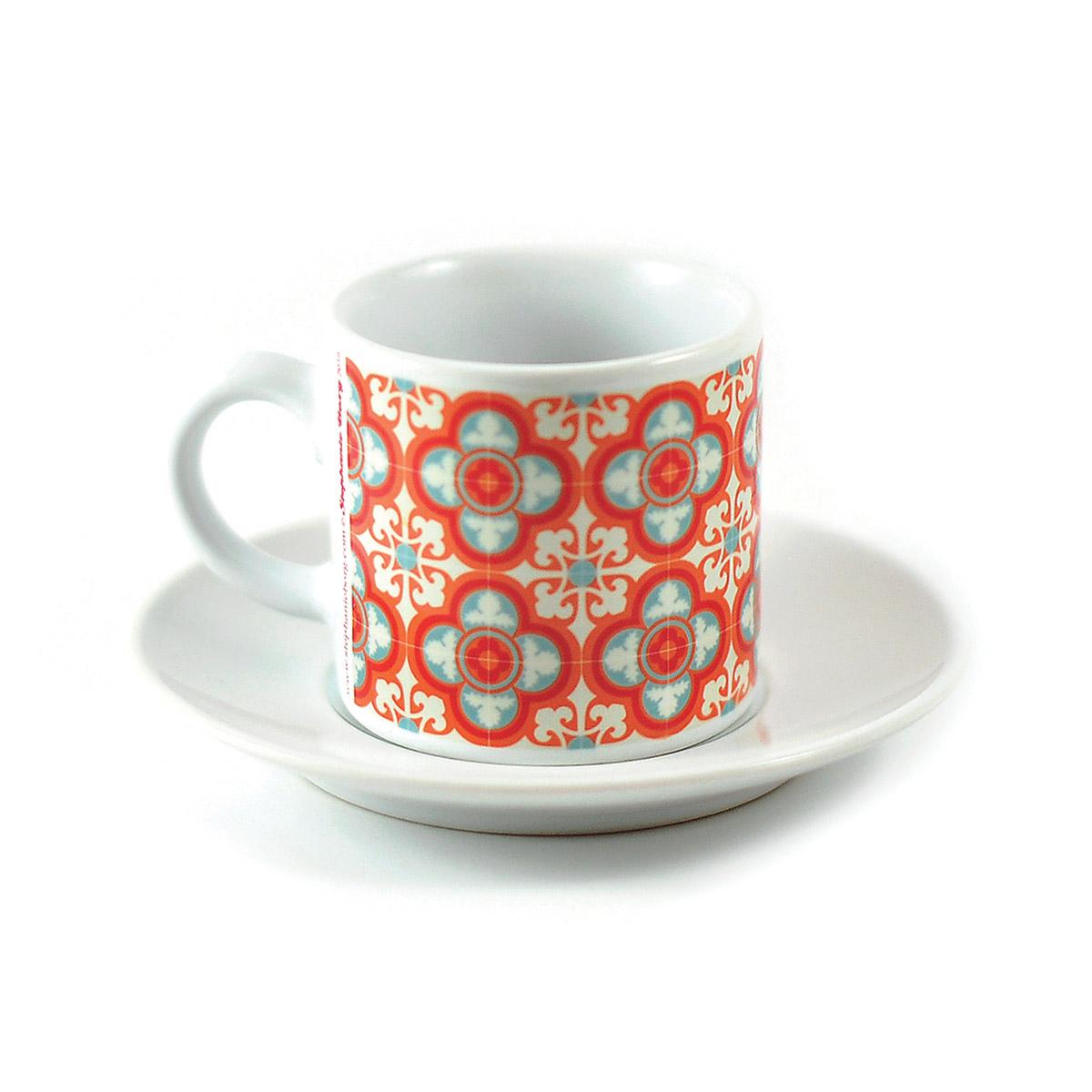 Malta Tile Espresso Cup & Saucer, pattern no.5
