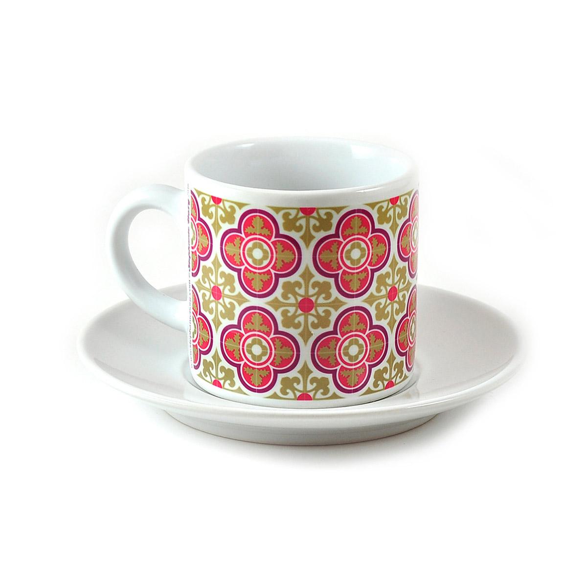 Malta Tile Espresso Cup & Saucer, pattern no.4