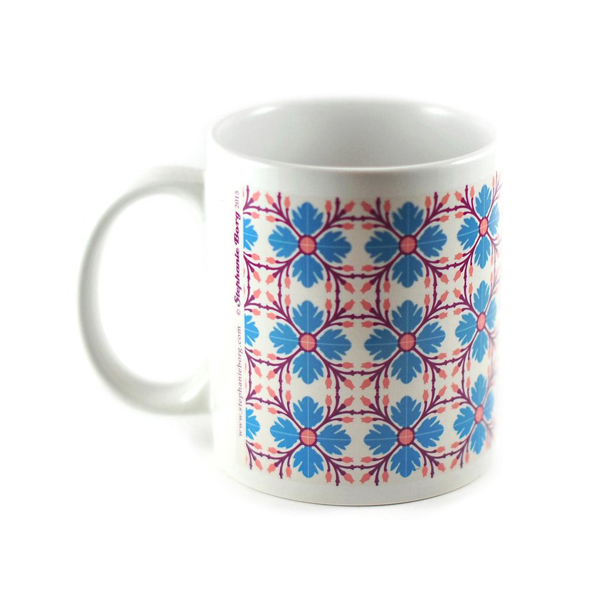 Mug with Malta Tile design, pattern no.9