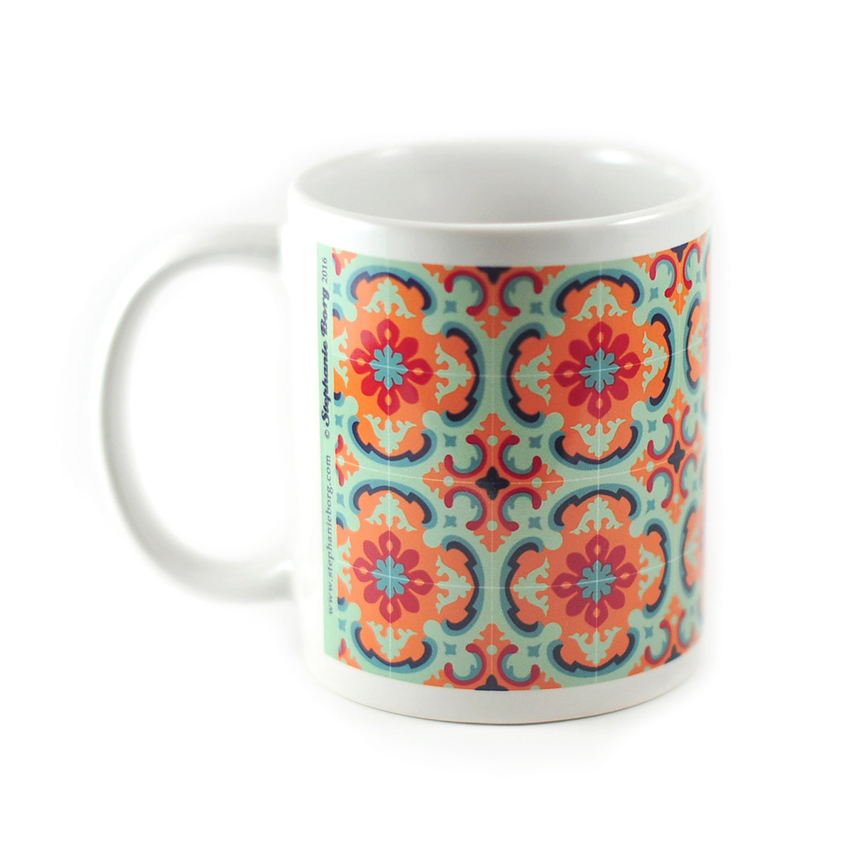 Mug with Malta Tile design, pattern no.2