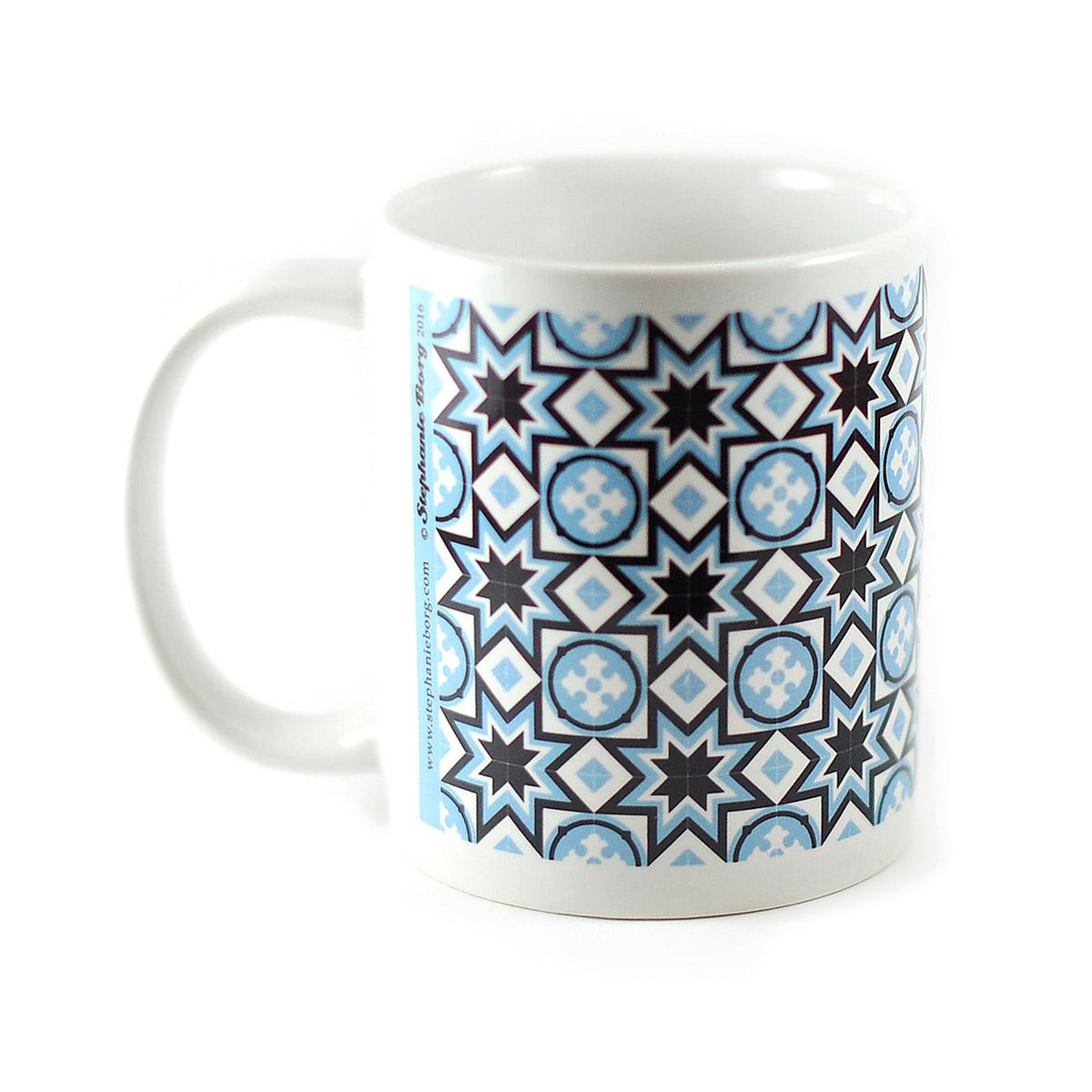 Mug with Malta Tile design, pattern no.7