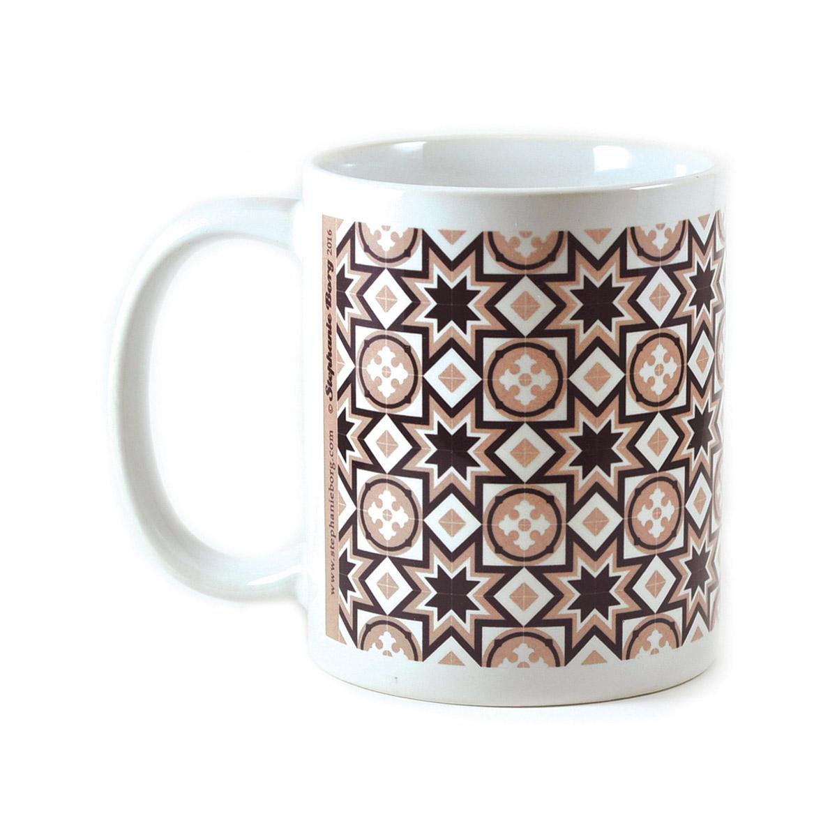 Mug with Malta Tile design, pattern no.8