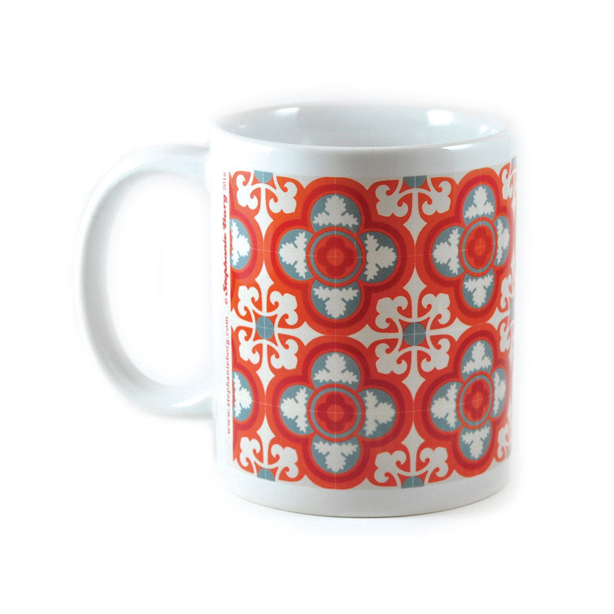 Mug with Malta Tile design, pattern no.5