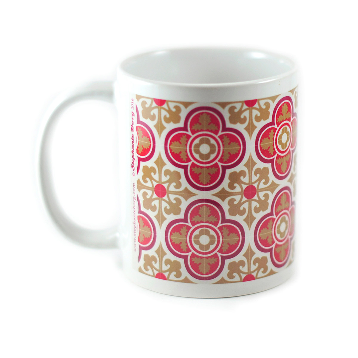 Mug with Malta Tile design, pattern no.4