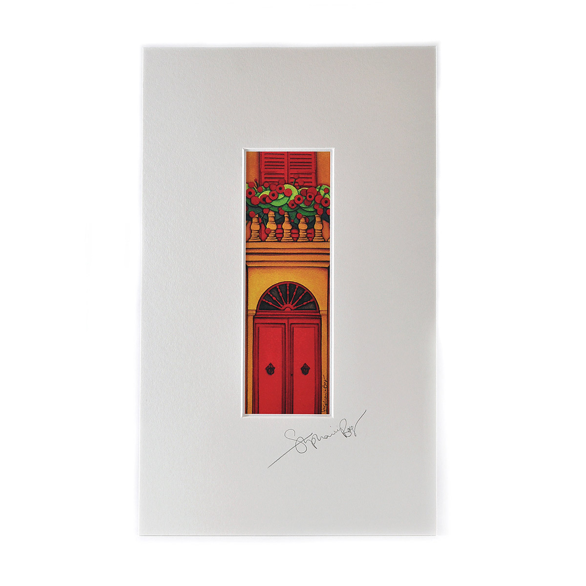 Single-Mounted-Red-door-Facade