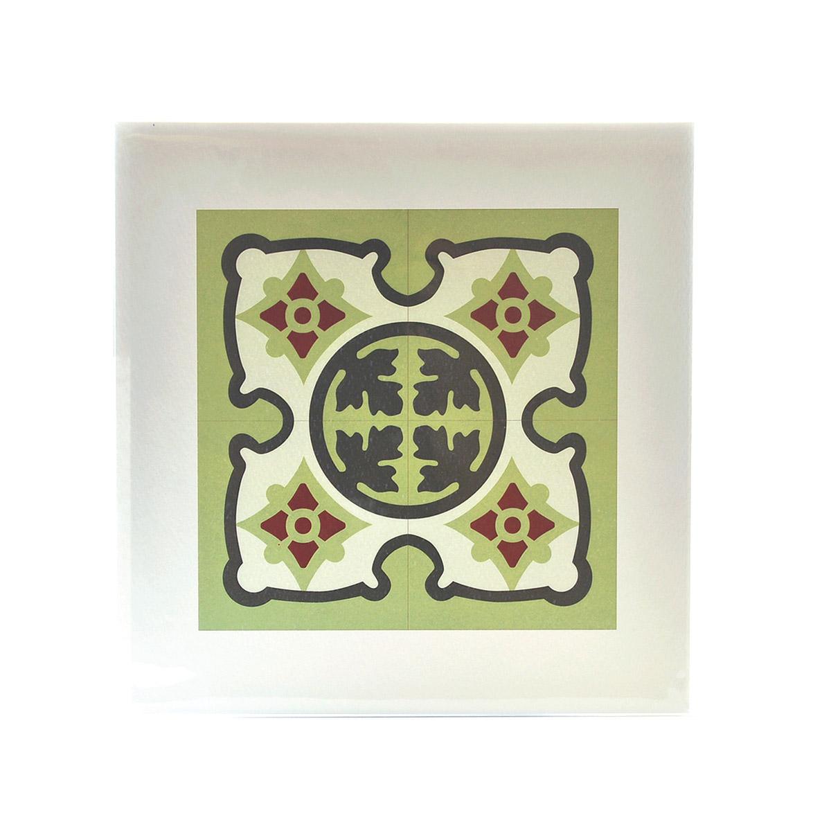 Malta Tile Print, pattern no.18