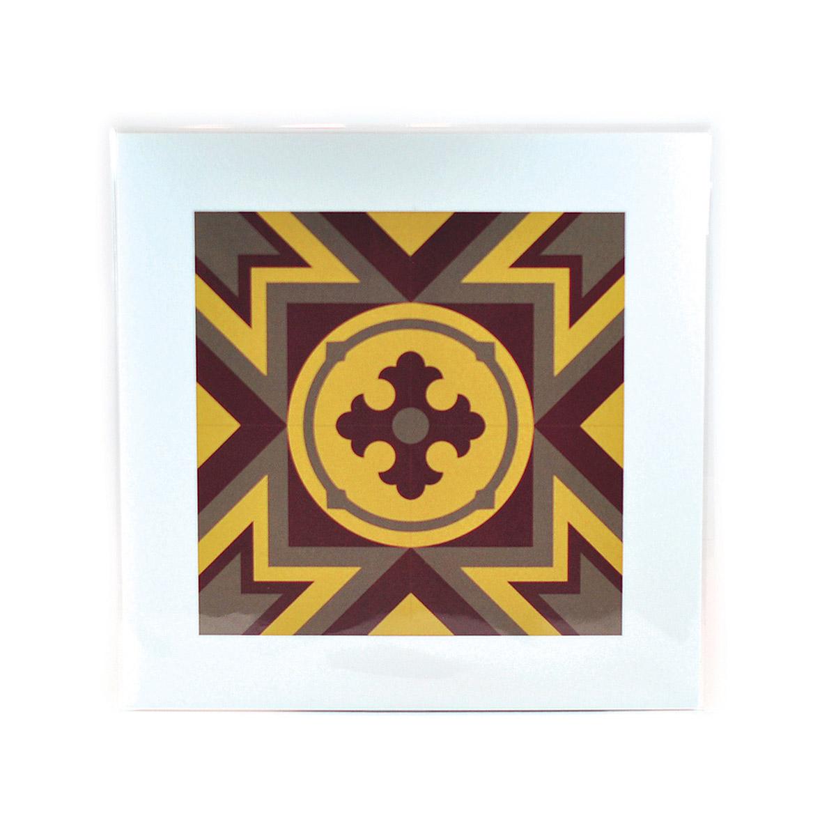 Malta Tile Print, pattern no.3