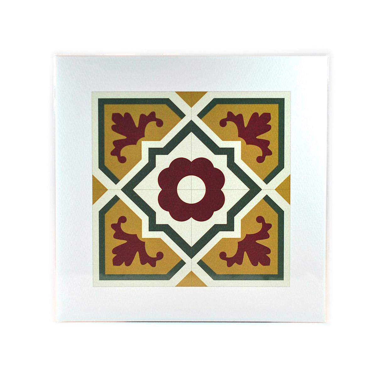 Malta Tile Print, pattern no.6
