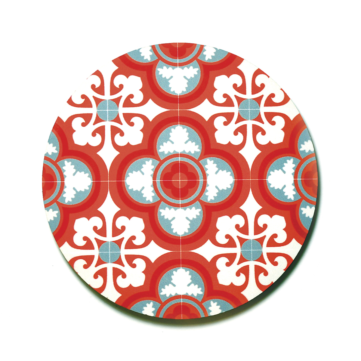 Set of 4 Malta Tile Coasters, pattern no.5
