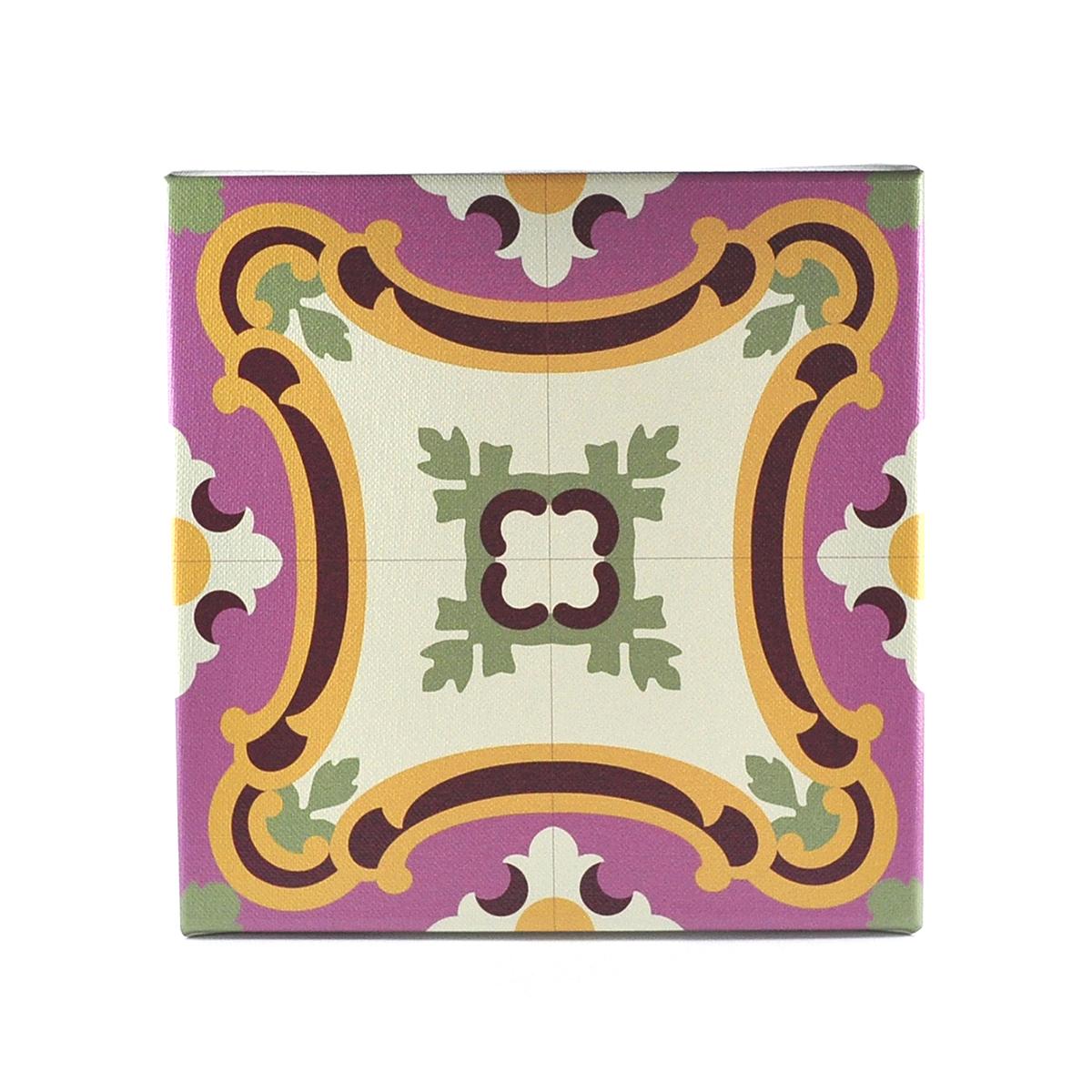 Malta Tile Canvas Block, pattern no.5