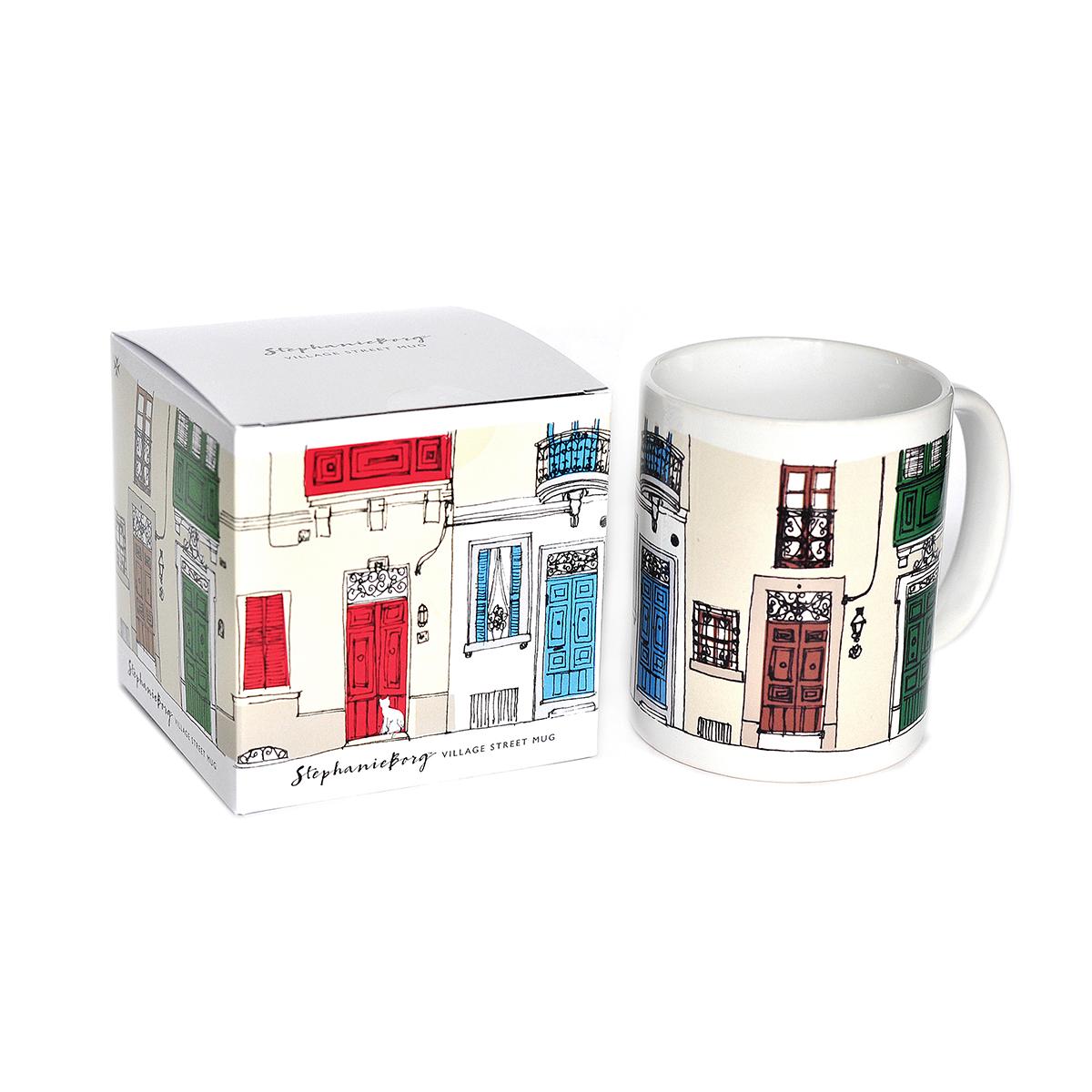 Village Street Mug+box