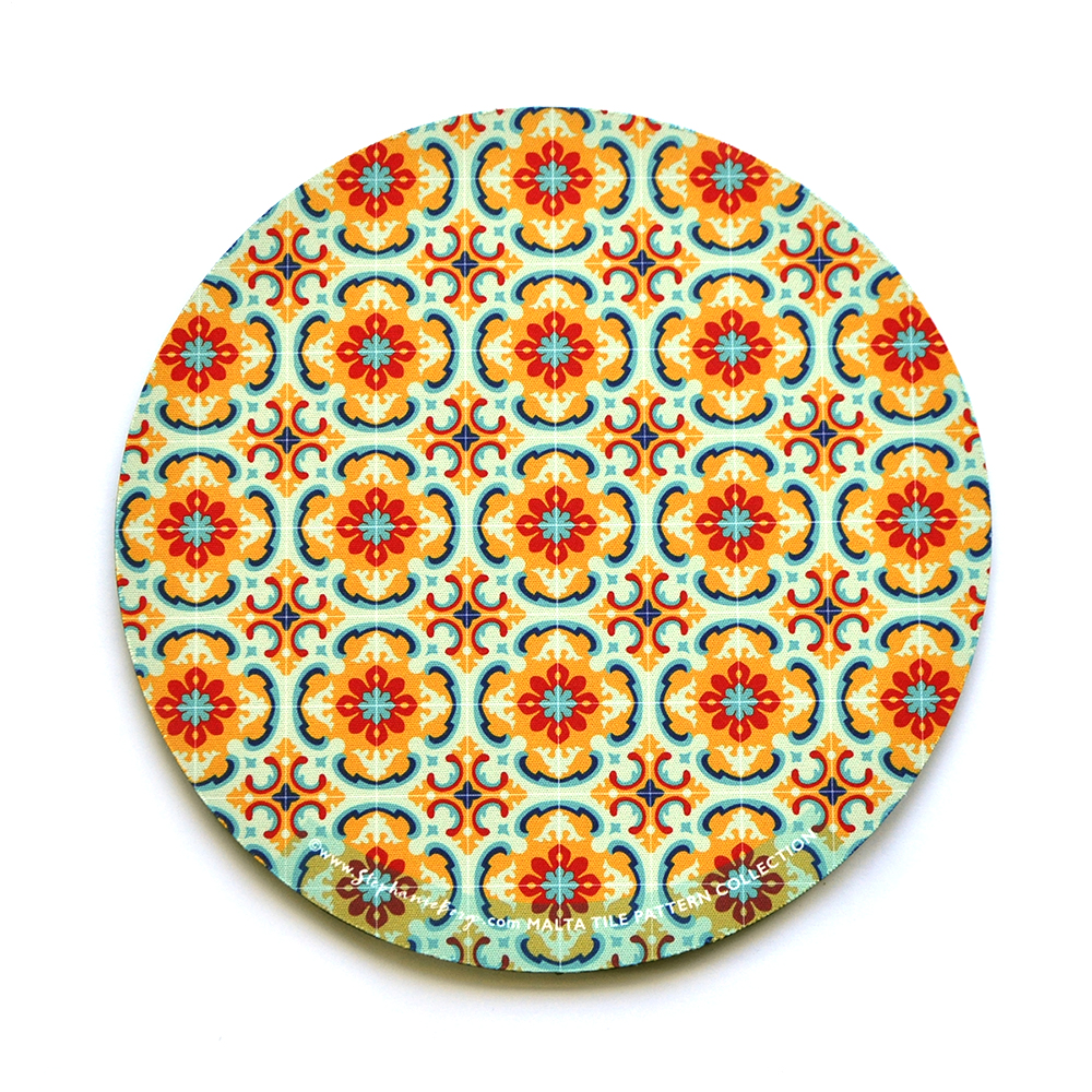 Mousepad with Maltese Tile Patterns, pattern no.2