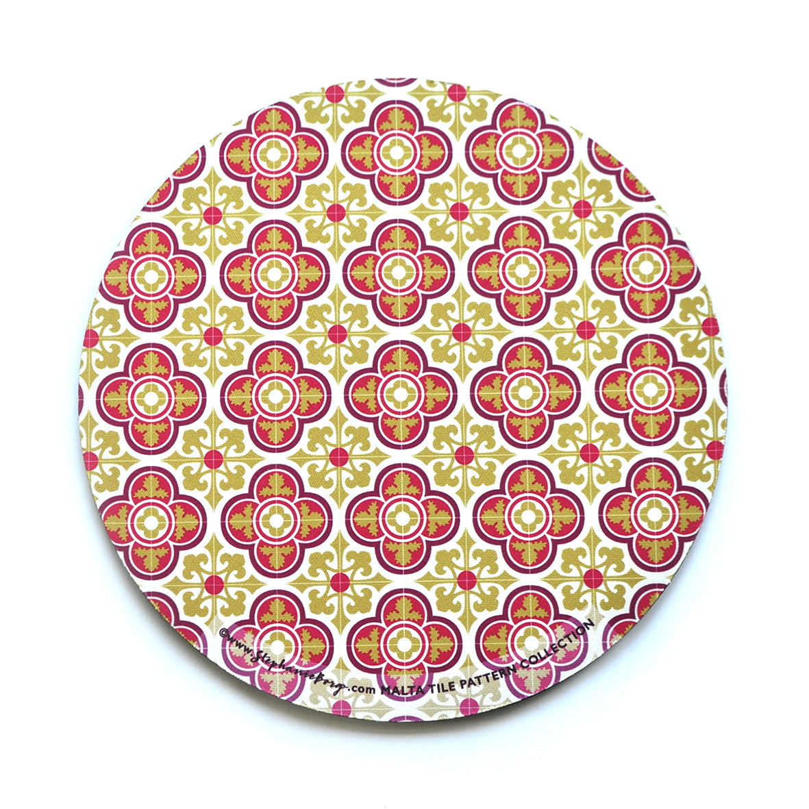 Mousepad with Maltese Tile Patterns, pattern no.4 - Stephanie Borg