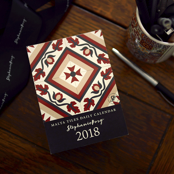 Malta Tiles Daily Calendar 2018