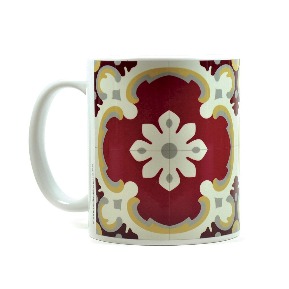 Mug with Malta Tile large Pattern no.1