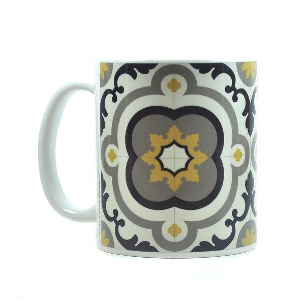 Mug with Malta Tile large Pattern no.11