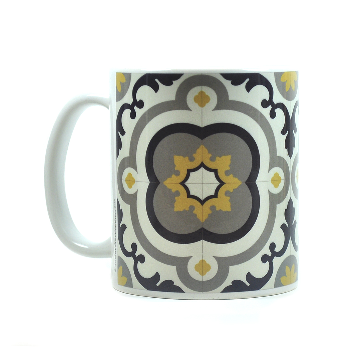 Mug with Malta Tile large Pattern no.11
