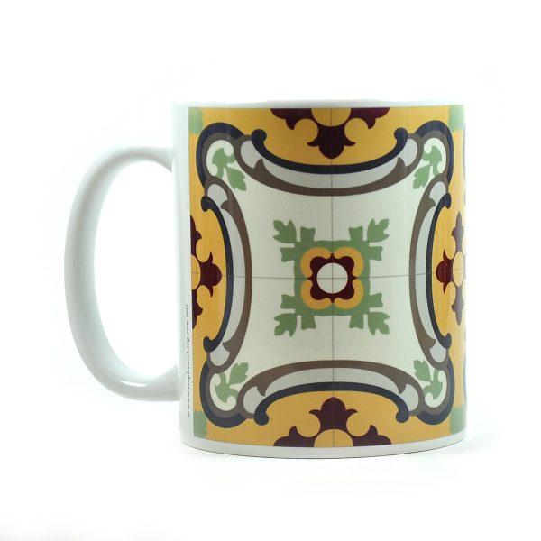 Mug with Malta Tile large Pattern no.13