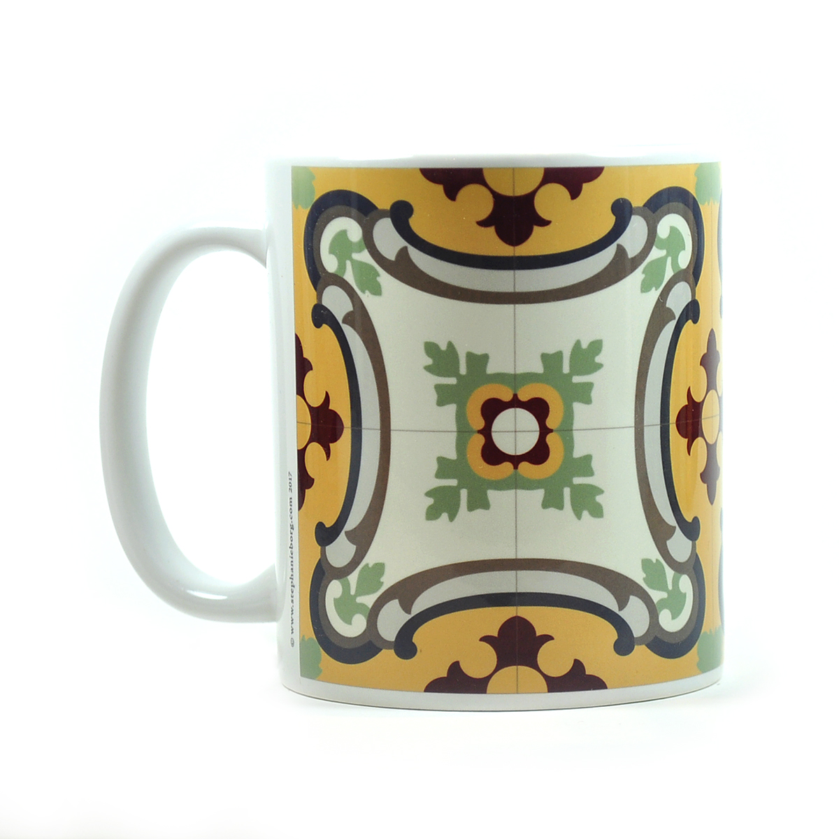 Mug with Malta Tile large Pattern no.13