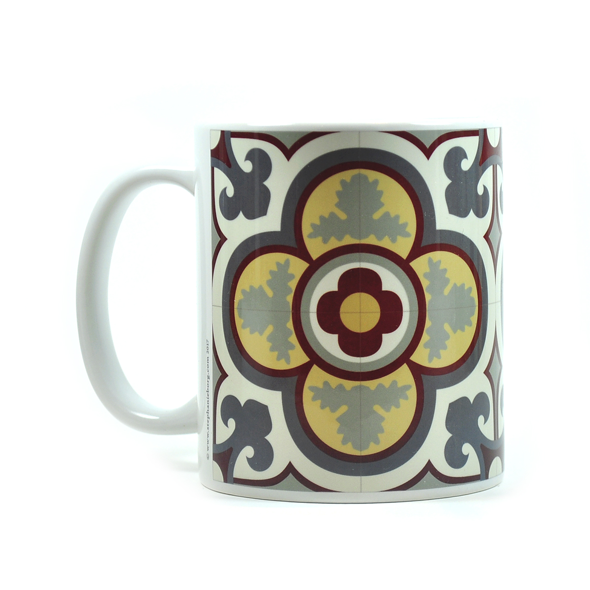 Mug with Malta Tile large Pattern no.17
