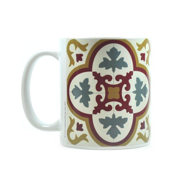 Mug with Malta Tile large Pattern no.4