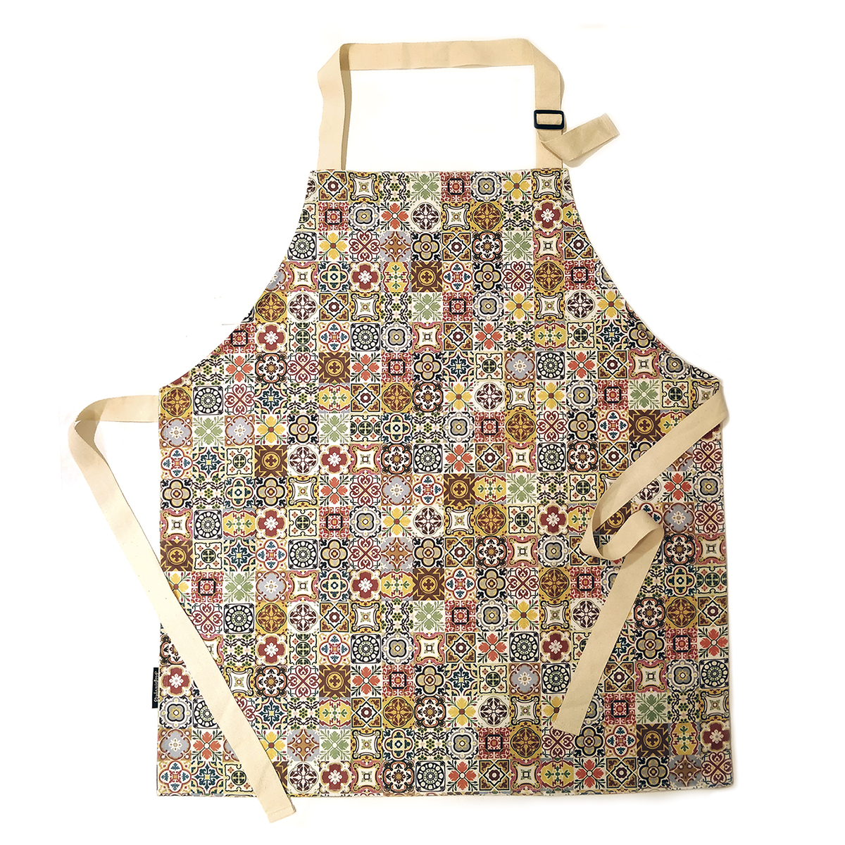 Malta Tile Pattern Cotton Apron