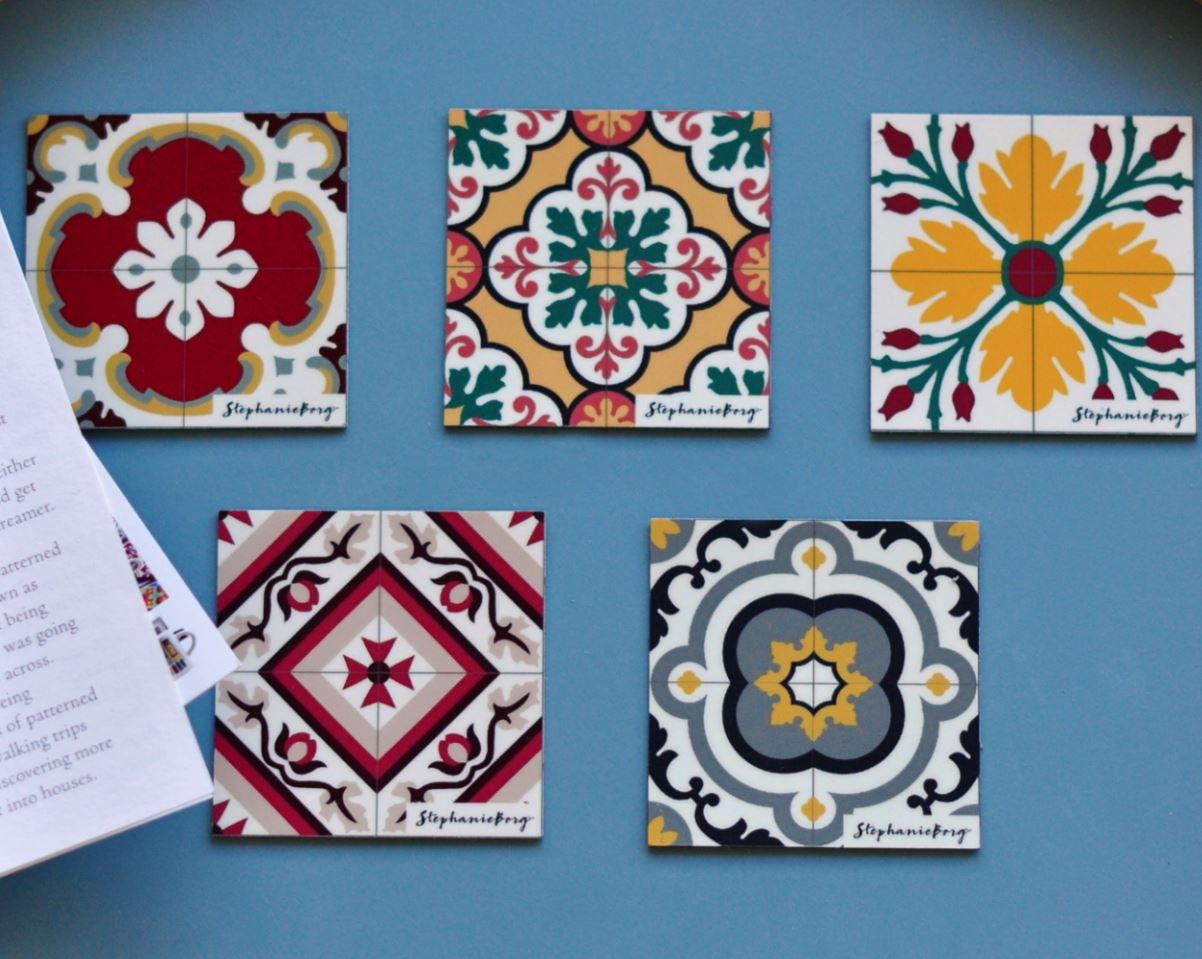 Malta Tile Pattern Magnets