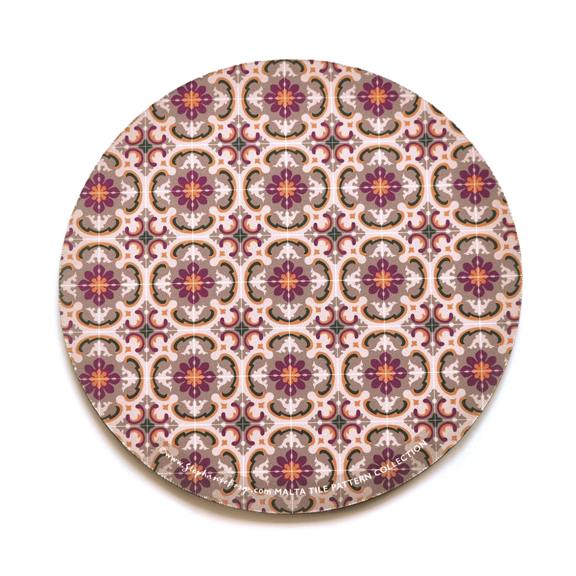Mousepad with Maltese Tile Patterns, pattern no.11