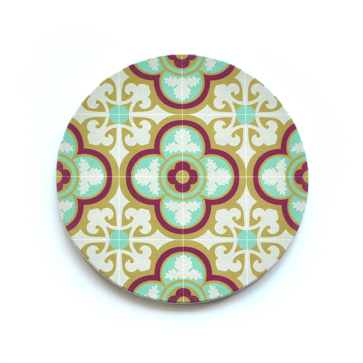 Set of 4 Malta Tile Coasters, pattern no.12