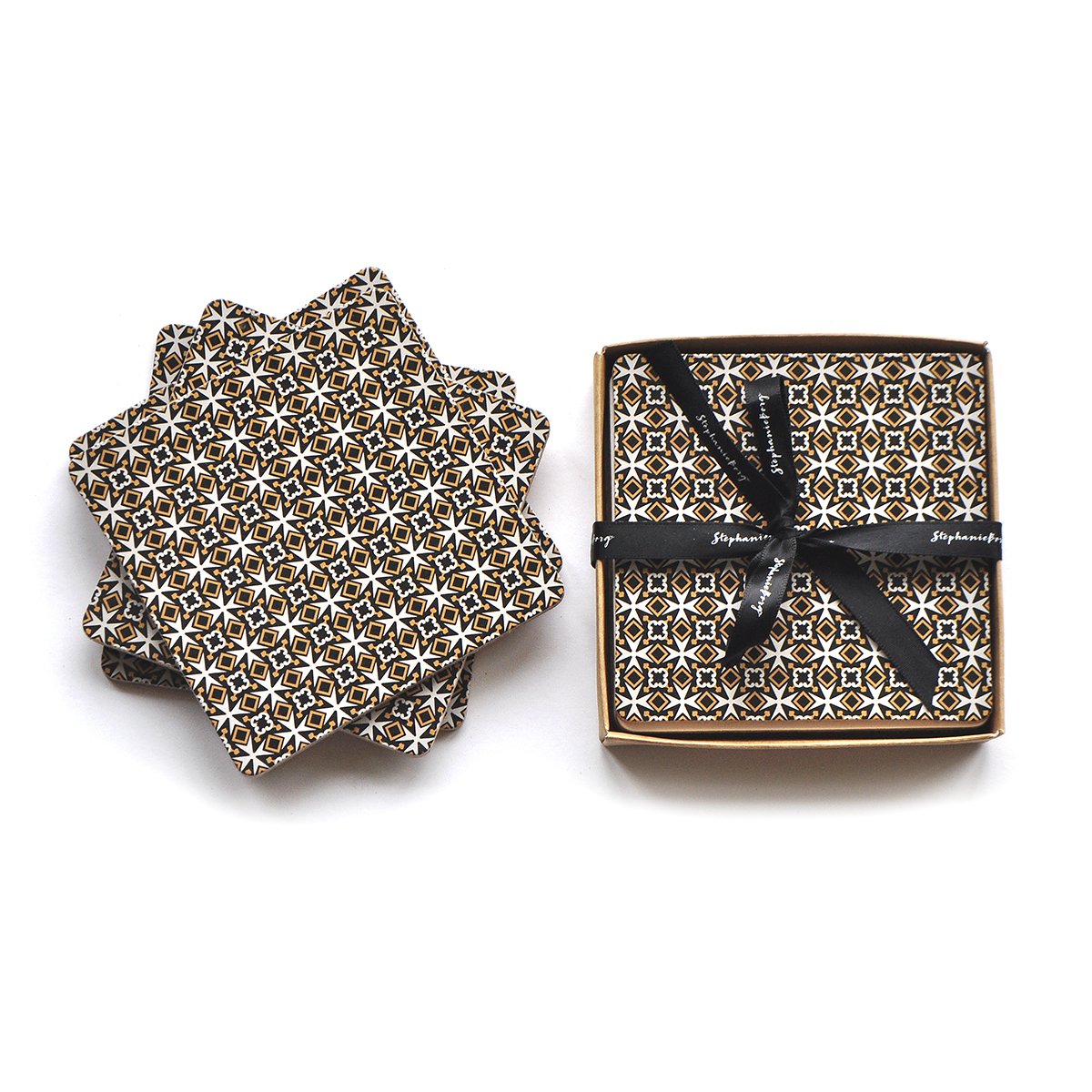 Set of 4 Malta Cross Coaster Gift Set