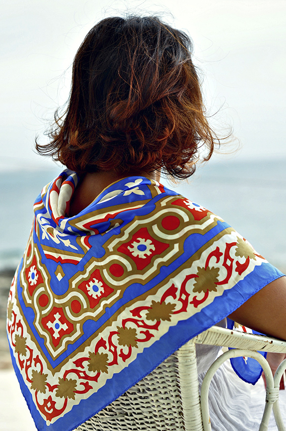 Mediterranea Pattern 100% Silk Scarf -SOLD OUT