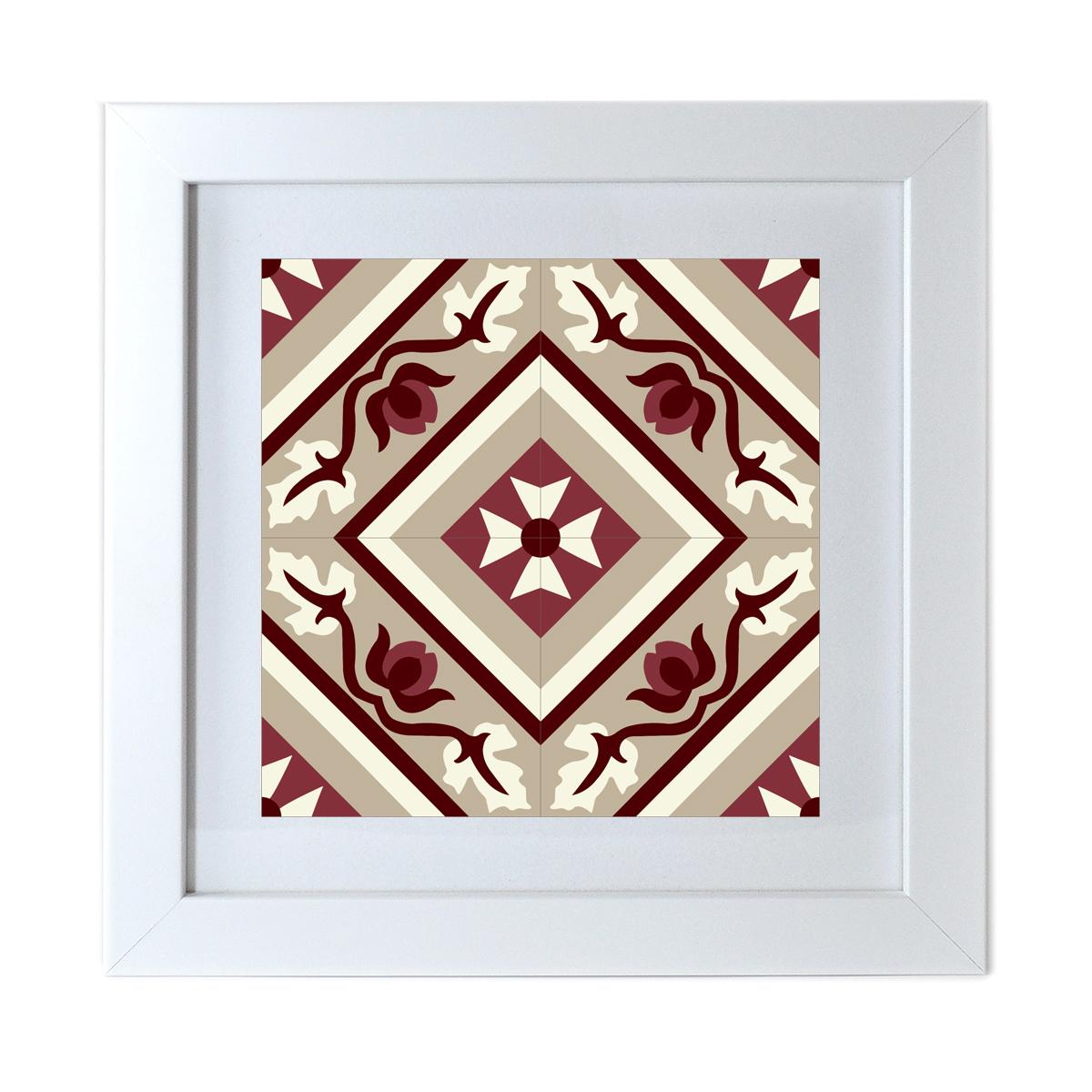 Framed tile print no19