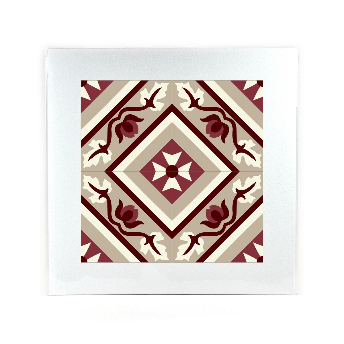 Malta Tile Print, pattern no.19