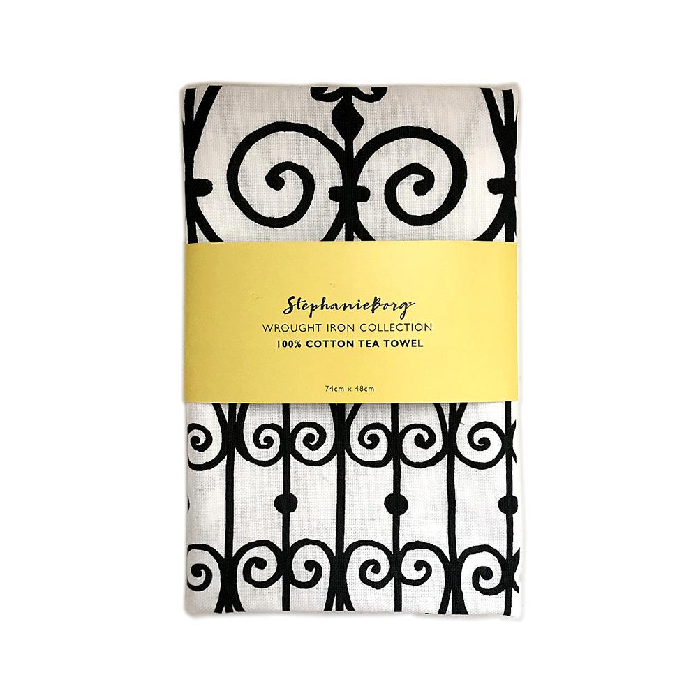 Wrought Iron Cotton Tea Towel