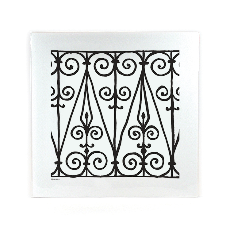 Wrought Iron Felħana Print