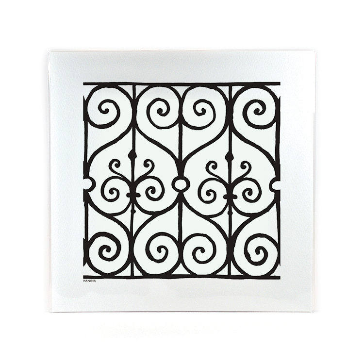 Wrought Iron Hanina Print